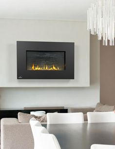 Wallmount, gas or propane, Topaz crystal bed -  Napoleon WHVF31 Vent Free Fireplace