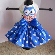 Blue Owl Dog Dress – Bark Label