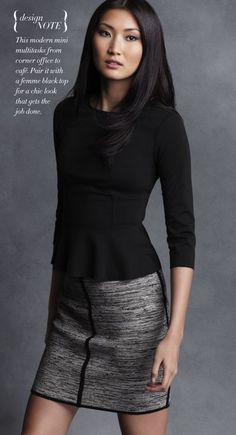 black peplum top/Ann Taylor