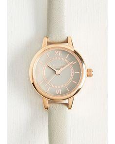 Olivia Burton   Head Of The Classic Watch In Grey & Rose Gold - Mini   Lyst
