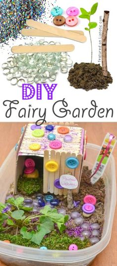 DIY Fairy Garden. CUTE!! -- 29 of the MOST creative crafts and activities for kids!
