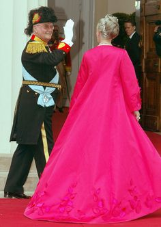 Danish Queen Margrethe II and Prince Henrik arrive to attend the wedding between their son Danish Crown Prince Frederik and Miss Mary Elizab...