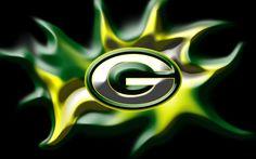 Green Bay Packers green fire Wallpaper