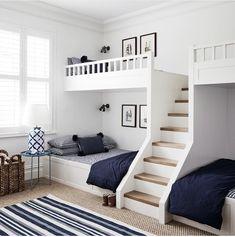 Bunk Bed Designs, Kids Bedroom Designs, Home Room Design, Kids Room Design, Small Room Design Bedroom, Cool Room Designs, Bunk Bed Rooms, Bunk Beds Built In, Bunk Beds For Kids