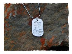Handprint or footprint pendant - Fine silver print pendant and sterling silver chain. Double prints - a perfect way to show off siblings
