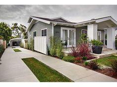 2371 Presidio, San Diego, CA 92103 - 3 baths Gray Exterior, House Paint Exterior, Exterior House Colors, Grey House White Trim, Grey Houses, House Painting, San Diego, Living Spaces, Landscaping