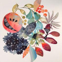 Fruit and flower Friday. #watercolor #winsorandnewton #floral #flowers #fruit #modernart #contemporaryart #illustration #painting #dscolor #surfacepattern #patternsplease #art_we_inspire #sketchbook #art