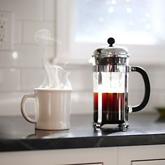 Perfect morning coffee. French press   photo by JP Elario