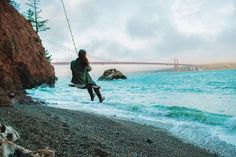Beach Swing on Kirby Cove Photo by Sara Richards -- National Geographic Your Shot -- Marin Headlands San Francisco Vacation, San Francisco Travel, Oh The Places You'll Go, Places To Travel, Travel Destinations, Kirby Cove, Beach Swing, San Francisco Photography, Vegas