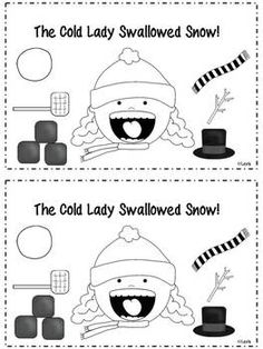 a Cold Lady Who Swallowed Some Snow - Emergent Reader Freebie Cold Lady Emergent Reader FreebieCold Lady Emergent Reader Freebie Holiday Activities, Classroom Activities, Book Activities, Preschool Classroom, Classroom Ideas, Winter Fun, Winter Theme, Snow Theme, Winter Ideas