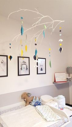 Mobiles, Baby Mobile, Baby Crafts, Baby Favors, Homemade, Day Care