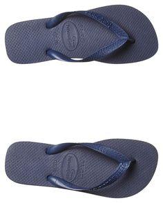 fb5b11a0f Havaianas Mens Top Thong Flip Flops Nautical Blue Rubber Sandals