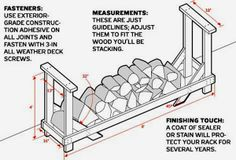 Firewood Holder Plans - Firewood Shed Plans, Firewood Racks Firewood Rack Plans, Outdoor Firewood Rack, Firewood Holder, Firewood Storage, Cheap Firewood, Outdoor Storage, Storage Shed Plans, Storage Ideas, Storage Rack