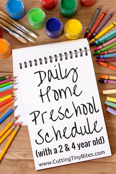 Our daily homeschool preschool schedule with a 2-year-old and 4-year-old.
