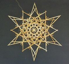 Meine Strohsterne Origami, Weaving, Arts And Crafts, Hair Accessories, Symbols, Ceiling Lights, Sculpture, Etsy, Ornaments
