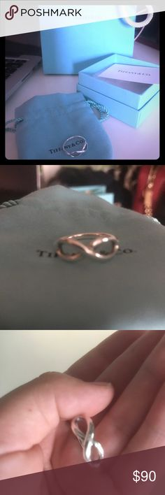 Tiffany and Co Infinity Ring! Beautiful Tiffany and Co ring! Size 5! Make me an offer! Tiffany & Co. Jewelry Rings