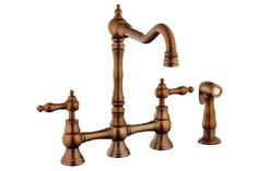I have this copper kitchen faucet by Danze
