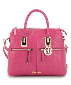 Love this Fabulous Age Pink & Gold Floral Leather Satchel by Fabulous Age on #zulily! #zulilyfinds