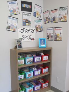 I really like this set up. I was thinking of doing something like this for next year. Reduce the area for library.