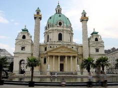 Karlskirche in Vienna, Austria. I spent some time by the beautiful water out front on the last day of my summer trip to Austria. It is an incredible sight.