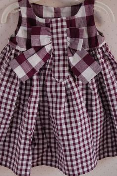 I once had a purple corduroy jumper with a purple and white ginham blouse. 3 purple cows emobroidered on the left sleeve. Oh yeah. Vintage Kids Clothes, Sewing Kids Clothes, Doll Clothes, Smocked Baby Clothes, Cute Baby Clothes, Cute Teen Outfits, Kids Outfits, Little Girl Dresses, Girls Dresses