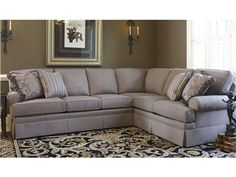 Shop for Smith Brothers , 5111-Sectional, and other Living Room Sectionals Comfort Wrinkles are Designed to Appear in This Style to Enhance the Exceptionally Soft Feel of the Seat and Back Cushions.