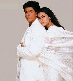 see more KAJOL AND SRK IN WHITE DRESSES