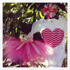 Chevron Valentines Day tutu set - outfit- infant toddler girl baby on Etsy, $23.00