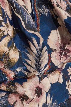 Philosophy di Lorenzo Serafini - Off-the-shoulder Ruffled Floral-jacquard Top - Blue - IT4