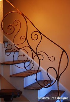 curvy forged Iron handrail