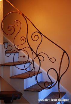 curvy forged Iron handrail