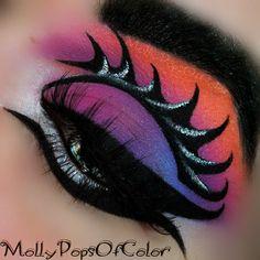 ~.Chaos.~ #eyes #purple #eyeshadow #pink #eyemakeup - bellashoot.com