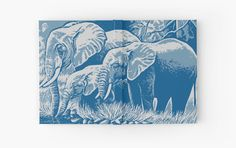 """ELEPHANTS"" Hardcover Journals by IMPACTEES 