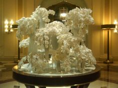 Floral arrangement at The Beverly Wilshire Hotel