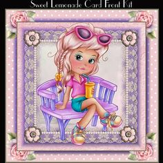 Sweet Lemonade Card Front Kit on Craftsuprint designed by Julie Hutchings - wonderful 3 page kit to print and make a stunning card front that includes a layer,gift tags and insertsentiment tagsHappy BirthdayDaughter With LoveSister With LoveWith Love blank for your own sentiment - Now available for download!