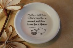 MOTHERS Day  mother and child ring dish by aphroditescanvas, $20.00