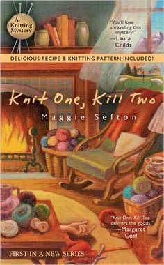 Knitting Mysteries by Maggie Sefton. This is #1. Reading it now! Includes a recipe and a knitting pattern.