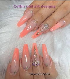78 Hottest Classy Acrylic Coffin Nails Long Designs For Summer Nail Color - -. - 78 Hottest Classy Acrylic Coffin Nails Long Designs For Summer Nail Color – – – - Long Nail Designs, Nail Art Designs, Perfect Nails, Gorgeous Nails, Pretty Nails, Coffin Nails Long, Long Nails, Bright Summer Nails, Spring Nails
