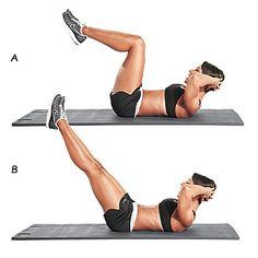 Low-belly leg reach - 24 Fat-Burning Ab Exercises (No Crunches!) - Health Mobile