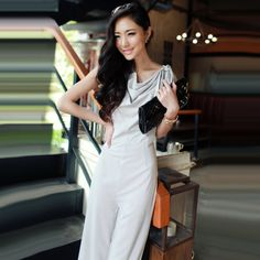 Korean New Fashion High Waist Women Jumpsuits Sleeveless Garment Haroun Pants Overall Rompers