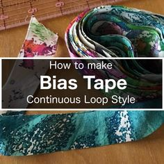 """I have been making a lot of bias tape lately because I am using it to finish my seams. When I need a large amount of bias tape, I alwaysuse this method. For a lack of better term, I call this the """"continuous loop method"""" of making bias tape. By stitching only two seams, you …"""