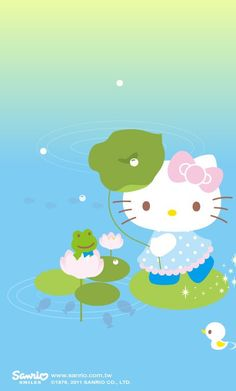 Hello Kitty Frog Pond