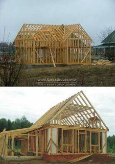 каркасный дом своими руками, строительство крыши