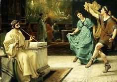 Sir lawrence #alma-tadema the roman #dance flute enjoyment #couple music leg new!,  View more on the LINK: 	http://www.zeppy.io/product/gb/2/310975489966/