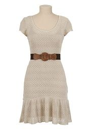 Belted Crochet Dress - maurices.com