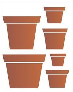 Stencil de Vasos 20 x 25cm - OPA 1457 - Stencil 20 x 25cm - Stencil ou molde vazado - Empório Janial