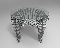 Mesh coffee table concept. on Behance