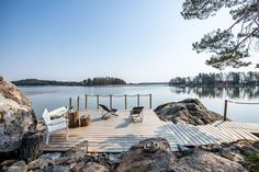 Lakeside Cottage, Archipelago, Country Life, Outdoor Spaces, Terrace, Exterior, Vacation, Villa, Beach