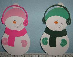 Χιονάνθρωποι με κασκόλ...