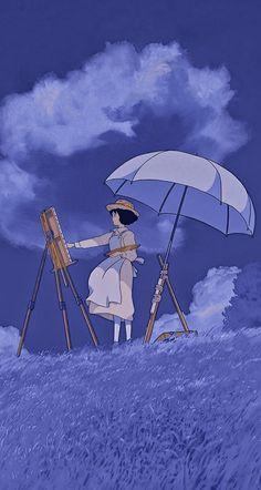 Cute Cartoon Wallpapers, Animes Wallpapers, Personajes Studio Ghibli, Studio Ghibli Background, Wind Rises, Purple Aesthetic, Dark Anime, Miyazaki, Manga